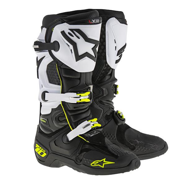 アルパインスター 2010014-1025-10 TECH10 ブーツ LE ブラック/ホワイト/イエロー/グリーン 10 (29.0cm)