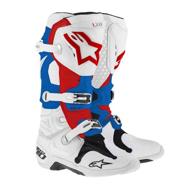 アルパインスター 2010014-273-10 TECH10 ブーツ ホワイト/ブルー/レッド 赤 10 (29.0cm)