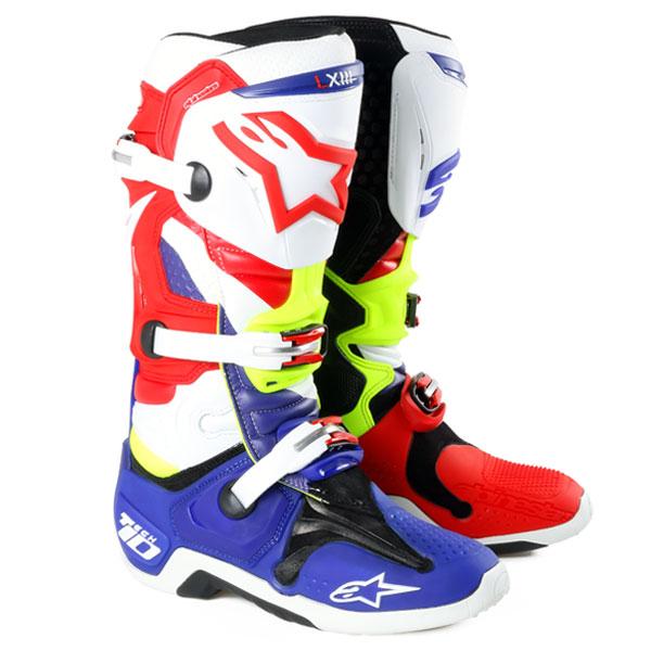 アルパインスター 2010014-730-10 TECH10 ブーツ LE ブルー/レッド 赤 10 (29.0cm)