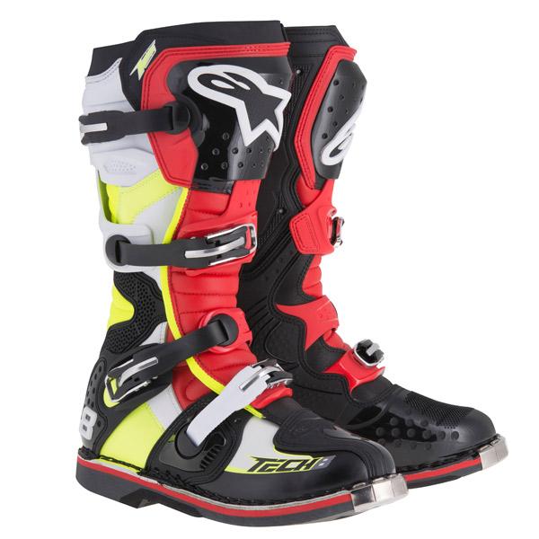 アルパインスター 2011015-1362-07 TECH8RS ブーツ ブラック/レッド/イエロー/ホワイト 7 (25.5cm)