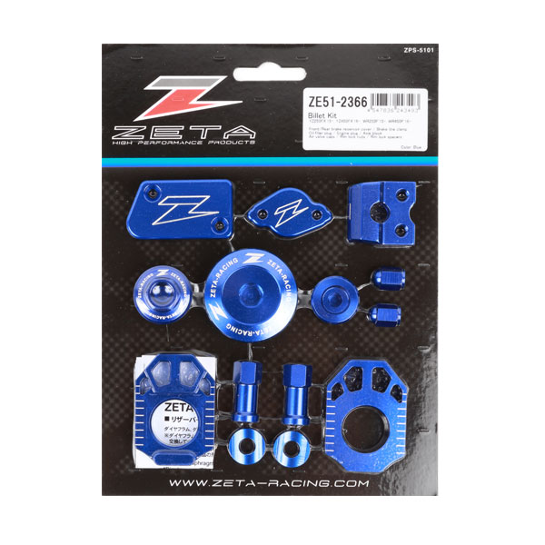 ZETA ジータ ダートフリーク ZE51-2366 ビレットキット YZ250FX'15-,450FX'16- ブルー 青