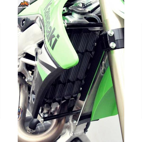 AXP 新色追加して再販 AX1341 ラジエターガード 登場大人気アイテム ブラック KX250F 15-16