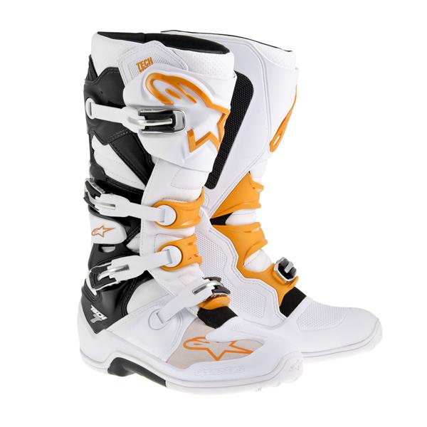 アルパインスター 2012014-23-08 TECH7 ブーツ ホワイト/オレンジ 8 (26.5cm)