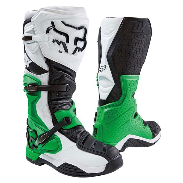 FOX 20600-129-9 COMP8长筒靴SE白/黑色/绿色9(26.5cm)