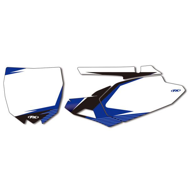 FACTORY EFFEX FX13-64238 プリカットプリンテッドB/G ホワイト YZ250F/450F'14-17