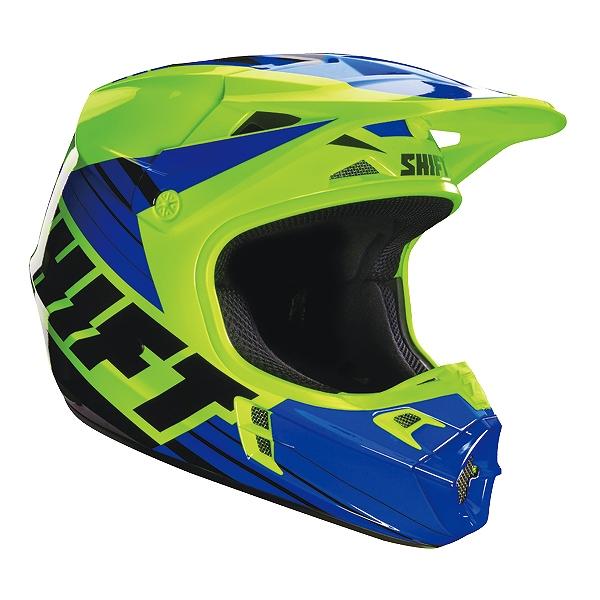SHIFT 16108-586-S アザルト ヘルメット S 16108 レース イエロー/ブルー