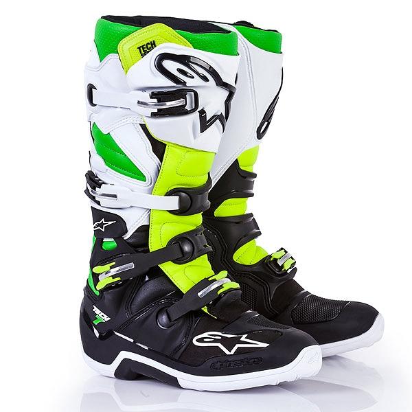 アルパインスター 2012014-1026-11 TECH7 ブーツ LE ブラック/ホワイト/グリーン/イエロー 11 (29.5cm)