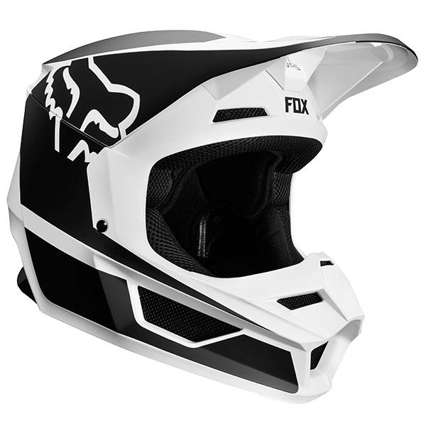 FOX フォックス 21773-018-XL V1 プリズムヘルメット ブラック/ホワイト XLサイズ/61cm~62cm ダートフリーク