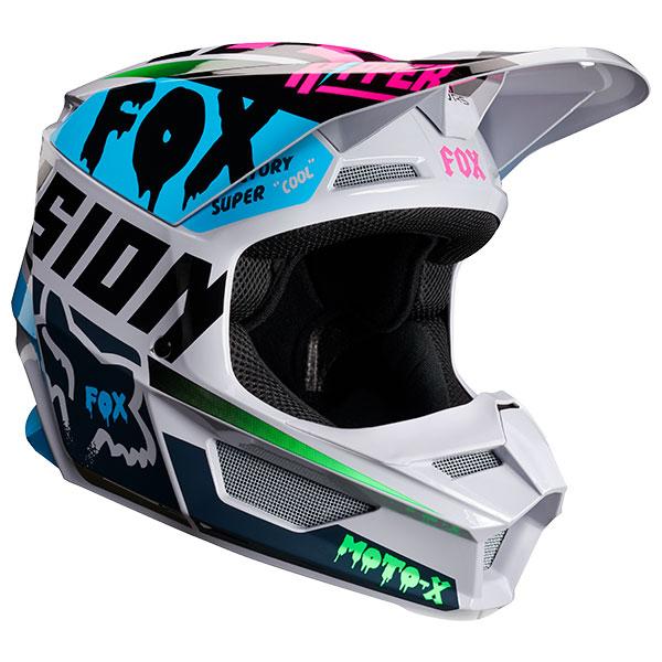 FOX フォックス 21781-097-M V1 ツァールヘルメット ユース/キッズ ライトグレー YMサイズ/49cm~50cm ダートフリーク