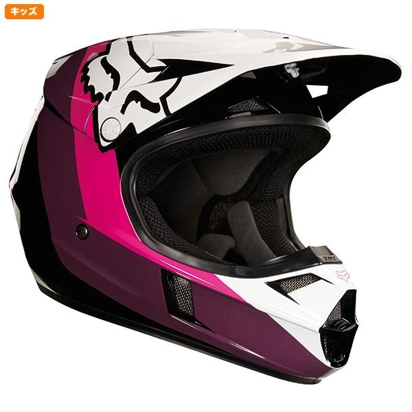 FOX フォックス 19545-285-M MX18 V1 ヘルメット ハリン 2018 ブラック/ピンク YMサイズ 子供用 ダートフリーク