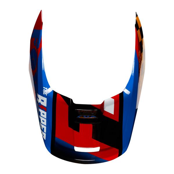 FOX 情熱セール フォックス 22973-019-M V1ヘルメット用 バイザー ツァール イエロー ダートフリーク 2019 Mサイズ ブラック 補修部品 ついに再販開始