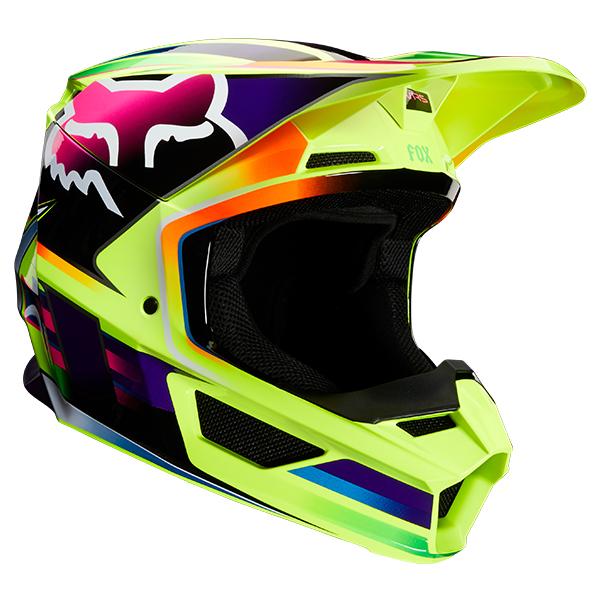 FOX フォックス 23977-005-S MX20 V1 ヘルメット ガマ 2020 イエロー Sサイズ ダートフリーク