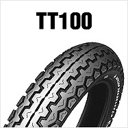 ダンロップ DUNLOP 126145 TT100 4.10H18 4PR TL フロント/リア バイク タイヤ ダンロップ 126145