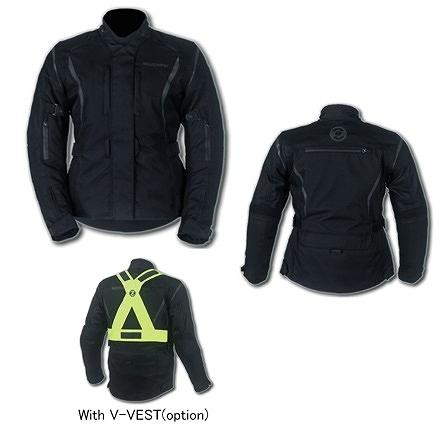 エトスデザイン SUOMY SJK019BE T-ツーリング レディスジャケット ブラック XSサイズ エトスデザイン SJK019BE