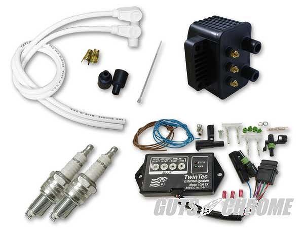 Daytona Twin Tec ツインテック 9800-3120 モジュール7ピン独立点火コンバージョンセット90-94BT白90° ガッツ クローム 9800-3120
