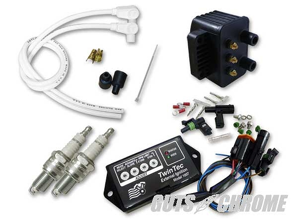 Daytona Twin Tec セールSALE%OFF 9800-3134 ツインテックモジュール 8ピン 正規逆輸入品 独立点火コンバージョンセット ガッツ 95-98BT 95-98年BT クローム モジュール 白90° ツインテック