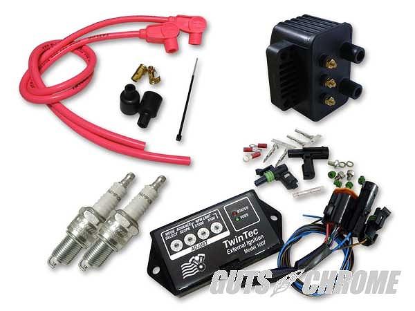 Daytona Twin Tec ツインテック 9800-3142 8ピン独立点火コンバージョンセット 95-98BT ピンク 90° ガッツ クローム 9800-3142