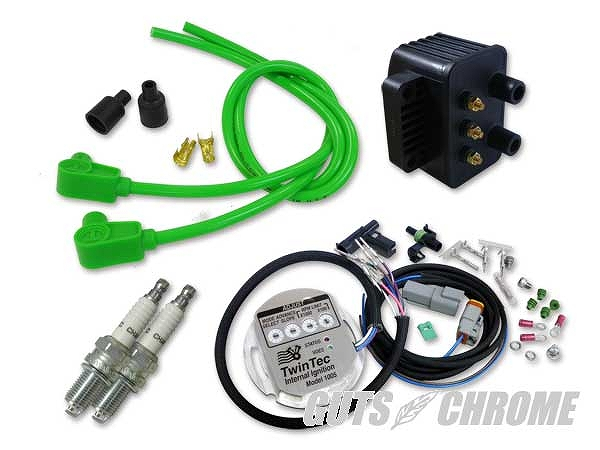 Daytona Twin Tec ツインテック 9800-3172 モジュール独立点火コンバージョンセット98-03XL緑90° ガッツ クローム 9800-3172