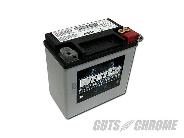 WESTCO ウエストコ 9800-4060 WCP14L バッテリー 04イコウXL 65958-04 ガッツ クローム 9800-4060