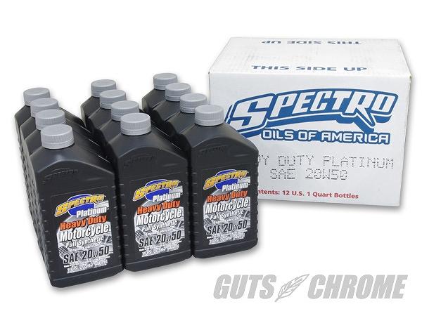 SPECTRO スペクトロ SP-009C プラチナムフルシンセティックオイル 20W50 ケース売リ ガッツ クローム sp-009c