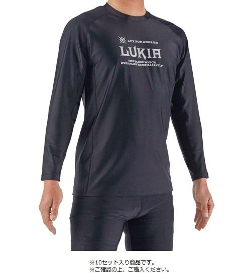 ルキア LUKIA WPT547-AS ルキアUVラッシュゲームシャツ 10セット入り ブラック ウェア 長袖 Tシャツ 釣り 海釣り 磯釣り 川釣り 浜田商会