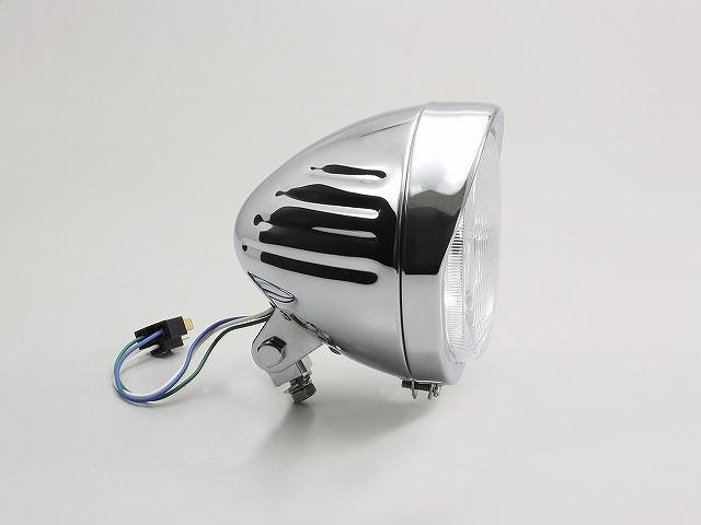ハリケーン HA5544 5.5ハイパワースリットヘッドライト クロームメッキ 5.5インチ H4バルブ12V60/55W 汎用 ハリケーン ha5544