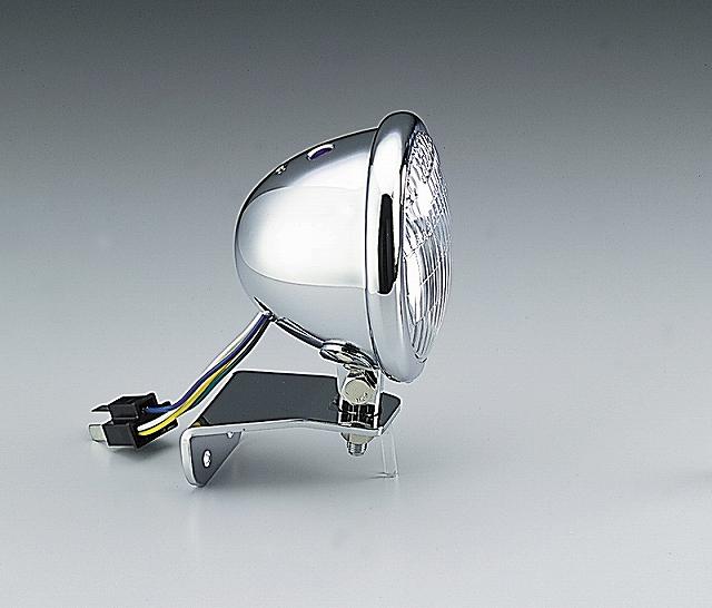 ハリケーン HA5603CR 4.5マルチリフレクターヘッドライトキット クリアレンズ ベーツタイプ SR400('10 FI).SR400/500('88/8-'08) ハリケーン ha5603cr