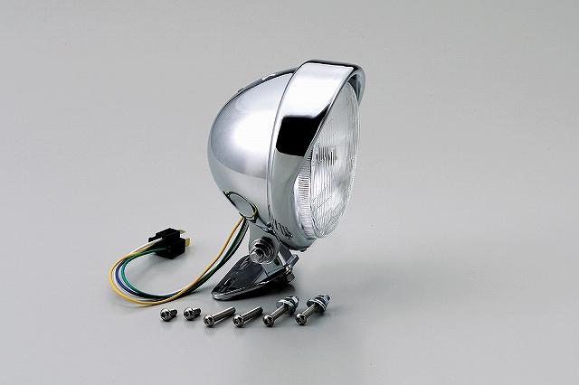 ハリケーン HA5629-01 5.5ベーツバイザータイプヘッドライトキット クロームメッキ 5.5インチ ドラッグスター250/400/1100 ハリケーン ha5629-01