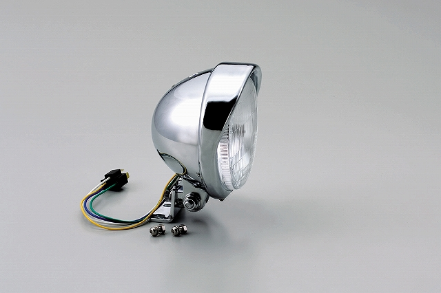 ハリケーン HA5633 5.5ベーツバイザータイプヘッドライトキット クロームメッキ 5.5インチ グラストラッカー/ビッグボーイ.バンバン200 ハリケーン ha5633