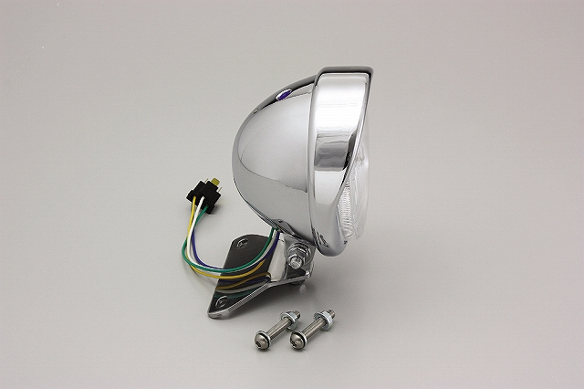 ハリケーン HA5634 5.5ベーツバイザータイプヘッドライトキット クロームメッキ 5.5インチ シャドウクラシック/カスタム.シャドウ750('04-) ハリケーン ha5634