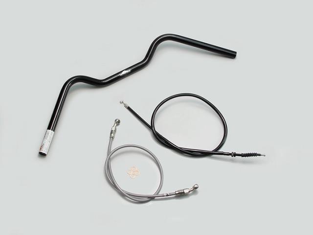 ハリケーン H714-065B フォワードコンチ1型 ハンドルキット ハンドルセット ブラック Z250(13-14 ABS無し車)