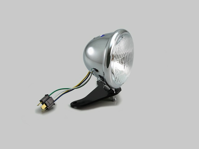 ハリケーン HA5649 4.5ベーツタイプ ヘッドライトキット クロームメッキ ハロゲンバルブ 12V35/35W レブル250(MC49) レブル500(PC60)