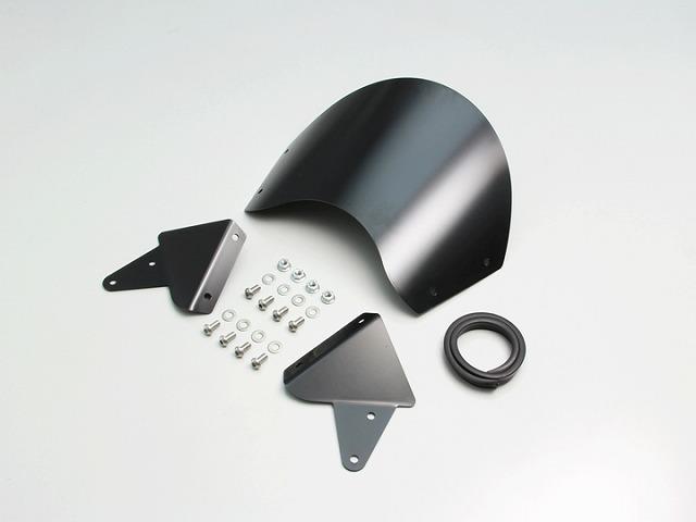 ハリケーン HA6109 フロントバイザー ブラック アルミ製 専用ステー付き ボルトオン XSR900