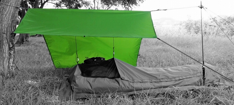 イスカ ISUKA 209602 オープンエア ウルトラライト タープ グリーン テント タープ 登山 アウトドア