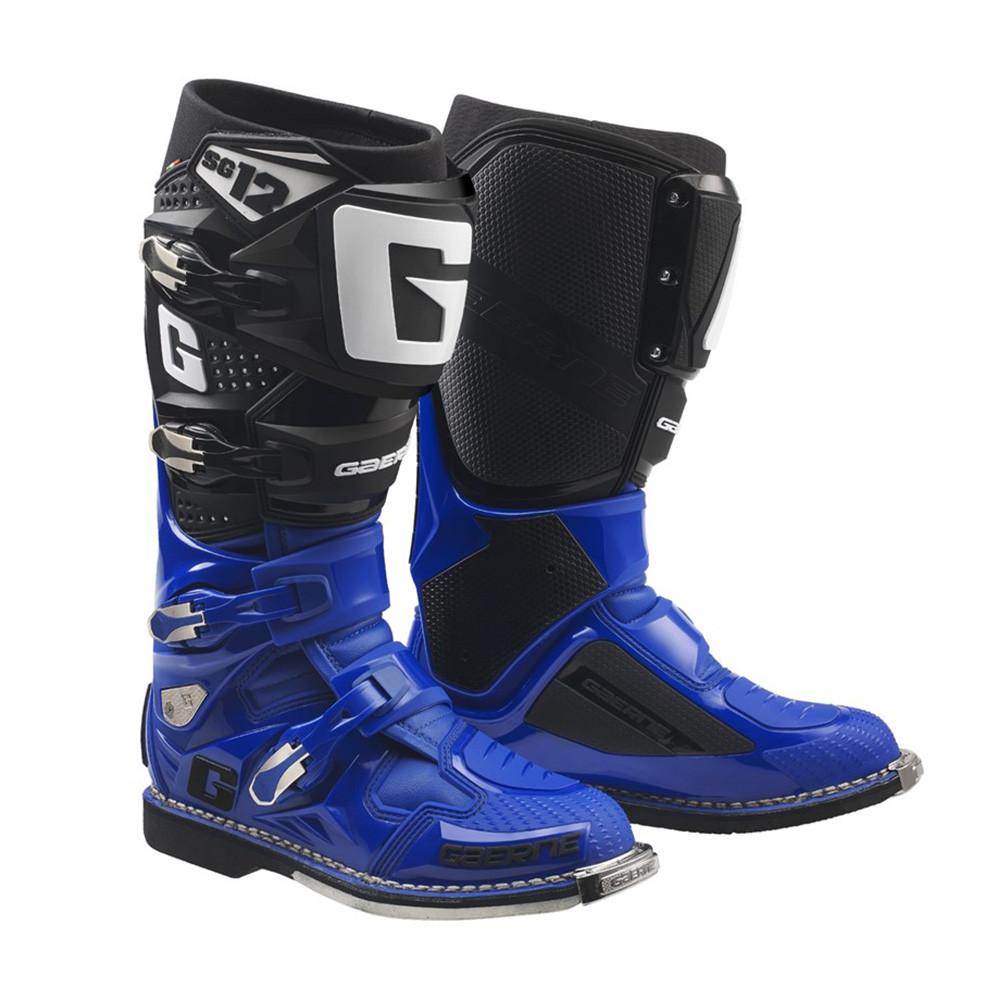 誕生日/お祝い ガエルネ セットアップ SG-12 ブルー ブラック オフロード ブーツ 26.0cm