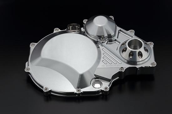 Kファクトリー ケイファクトリー K-FACTORY クラッチカバー タイプ2 シルバー アルミスライダー付 ZRX/ZZR/GPZ 000IZDP008H