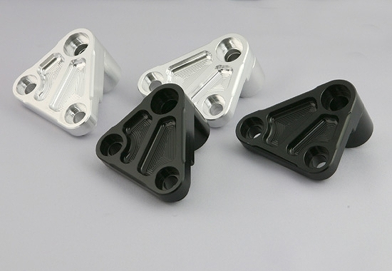 Kファクトリー ケイファクトリー K-FACTORY フロント補強ハンガー Bキット ダウンチューブ用 外側 ブラック 112SZDI004B