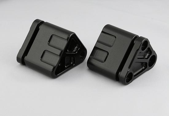 Kファクトリー ケイファクトリー K-FACTORY ダウンチューブ用フロント補強ハンガーAキット ZRXエンジンセット ブラック 112SZDI005B