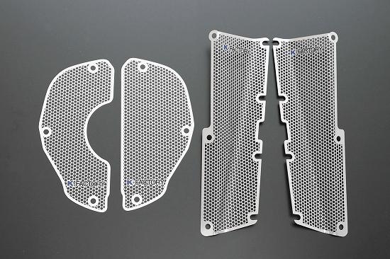 Kファクトリー ケイファクトリー K-FACTORY ラジエターサイドエアーダクトガード メッシュセット V-MAX 304CZAA039Z