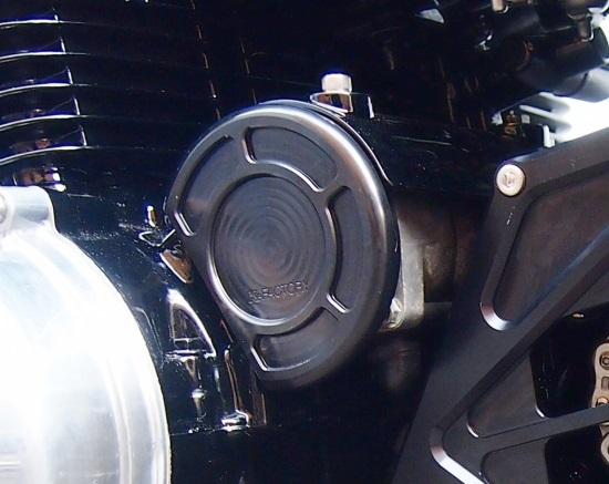 Kファクトリー ケイファクトリー K-FACTORY セルモーターカバー スーパーブラック ゼファー750 114IZEX001R