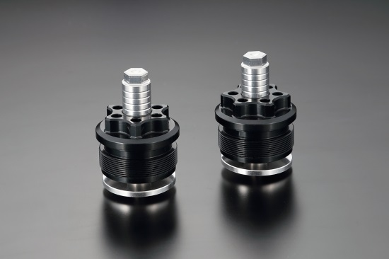 Kファクトリー ケイファクトリー K-FACTORY フロントフォークトップキャップ スーパーブラック ゼファー750 114XZDR022R