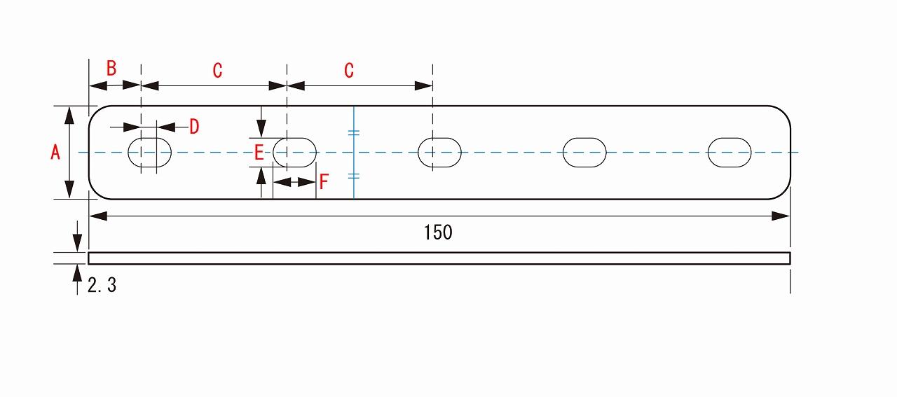 키타코0900-529-10203유니하″사르스테이 SPCC φ10 스트레이트 150 MM 2.3 T KCON