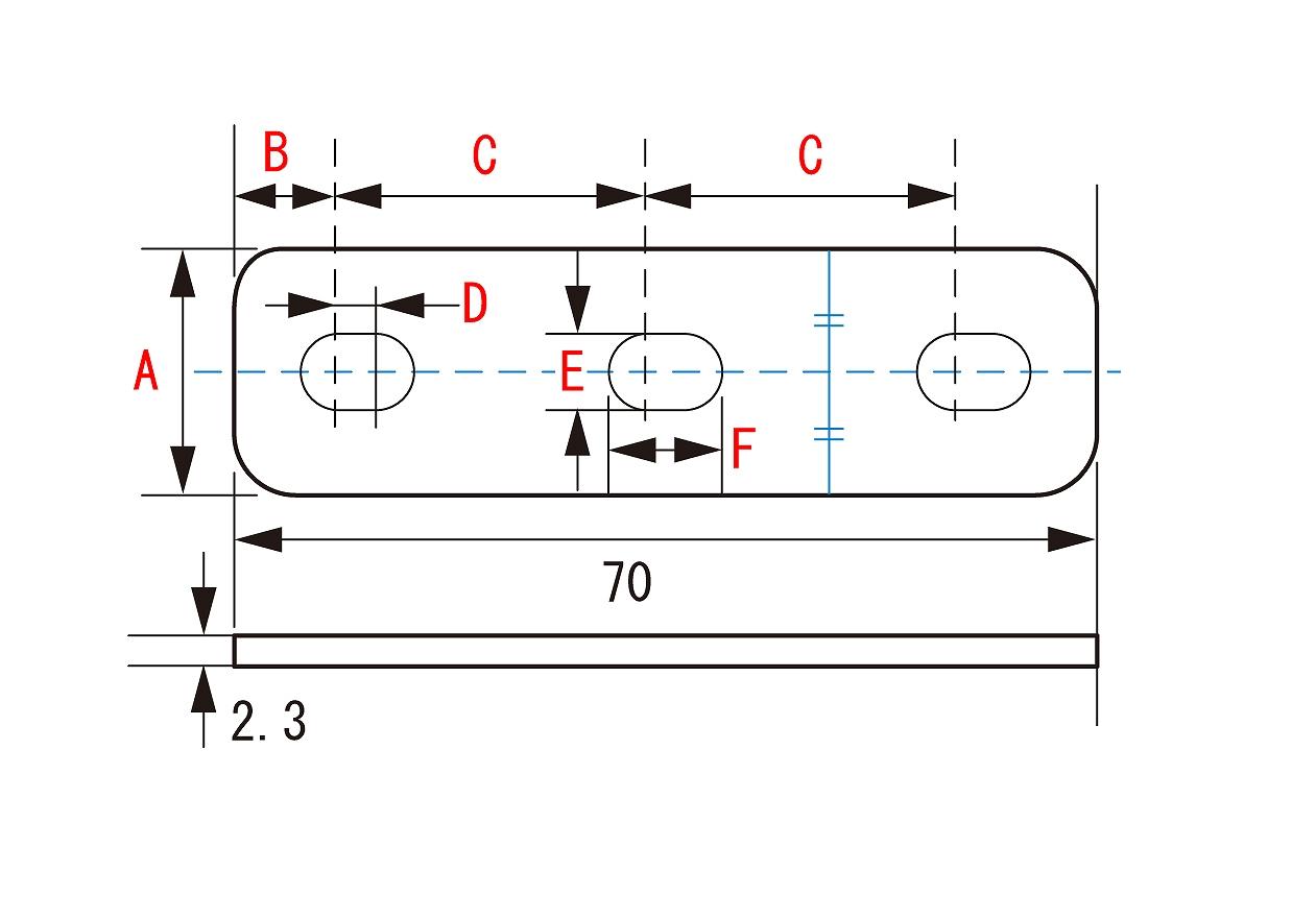 키타코0900-529-10402유니하″사르스테이 SPCC φ8 스트레이트 70 MM 2.3 T KCON