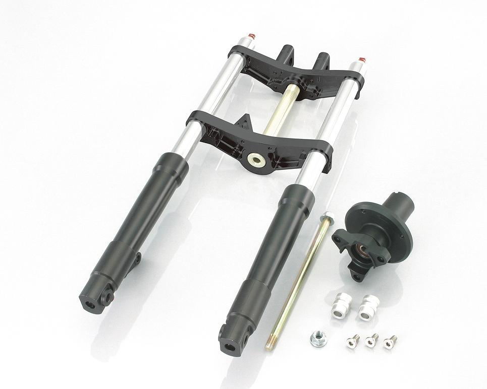 キタコ 500-1137350 フロントフォークキット タイプX WD モンキー 30-40/ブラック/ブラック ハブ=ブラック