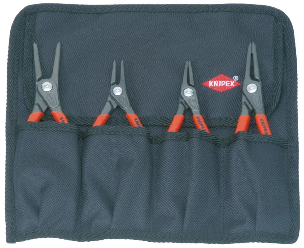 KNIPEX クニペックス 001957 精密スナップリングプライヤーセット(4本組) 質量(g):665