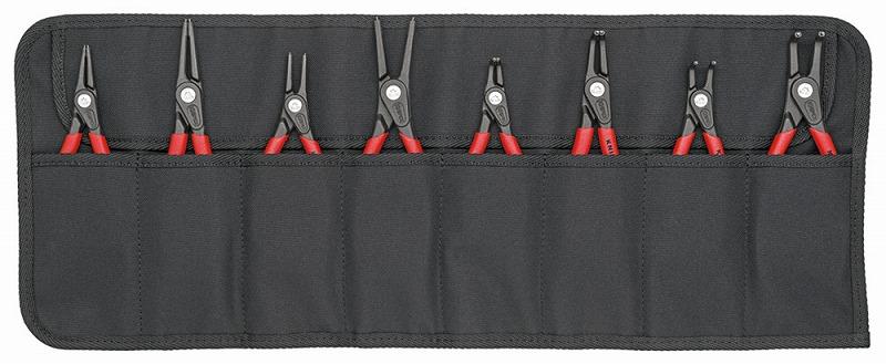 KNIPEX クニペックス 001958V02 精密スナップリングプライヤーセット 8本組 ロールケース付 ペンチ ニッパー KNIPEX クニペックス 001958V02 精密スナップリングプライヤーセット 8本組 ロールケース付 ペンチ ニッパー