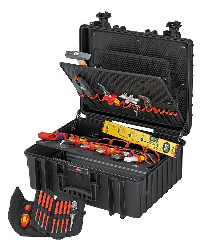 KNIPEX クニペックス 002136 電気技師用ツールセット 26PCE 510×215×419mm