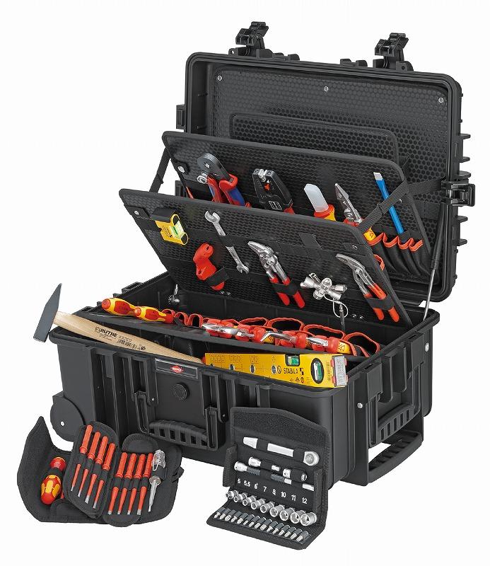 KNIPEX クニペックス 002137 電気技師用ツールセット 63PCE 609×263×428mm  KNIPEX クニペックス 002137 電気技師用ツールセット 63PCE 609×263×428mm