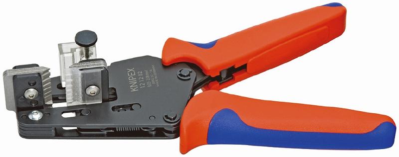 KNIPEX クニペックス 1212-02 ワイヤーストリッパー ストリッピング能力(mm2):0.03-2.08 ストリッピング能力(AWG):32-14 質量(g):447