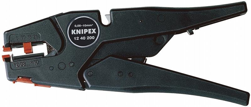 KNIPEX クニペックス 1240-200 ワイヤーストリッパー (SB) ストリッピング能力(mm2):0.03-10.0 ストリッピング能力(AWG):32-7 質量(g):202